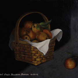 Lou Posner, , , Original Painting Oil, size_width{Pears-1258767575.jpg} X 14 inches