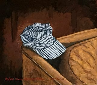 Lou Posner; Glenns Railroad Cap, 2020, Original Painting Oil, 16 x 14 inches. Artwork description: 241 In memory of a dear friend. ...