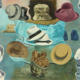 Lou Posner, , , Original Painting Oil, size_width{hats-1535573411.jpg} X 27 inches