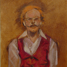 Lou Posner, , , Original Painting Oil, size_width{portrait_of_tom_horton-1505432622.jpg} X 16 inches