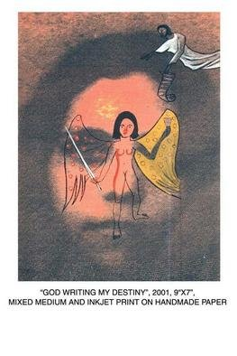 Durga Kainthola; God Writing My Destiny, 2001, Original Mixed Media, 7 x 9 inches.