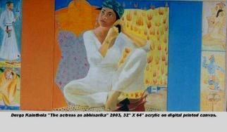 Durga Kainthola; The Actress As Abhisarika , 2003, Original Mixed Media, 32 x 64 inches.