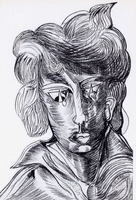 Durlabh Singh; Portrait, 2012, Original Drawing Other, 8 x 10 inches. Artwork description: 241   Contemporary style, vivid, innovative, expressive, figurative.               ...