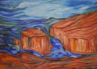 Durlabh Singh; Sea Scape, 2013, Original Painting Oil, 36 x 24 inches. Artwork description: 241   Contemporary style, rocks, turbulent sea, contemplative, strong composition.     ...
