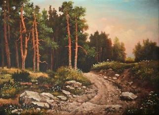 Dusan Vukovic; Motif From Zlatibor, 2012, Original Painting Oil, 40 x 50 cm. Artwork description: 241 zlatibor mountain, realism, forest trail, nature, summer, landscape, oil, canvas...