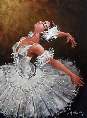 Dusan Vukovic; Ballerina  , 2015, Original Painting Oil, 30 x 40 cm. Artwork description: 241 ballerina, ballet, figurativ, realism, oil on canvas, original painting, dusanvukovic...