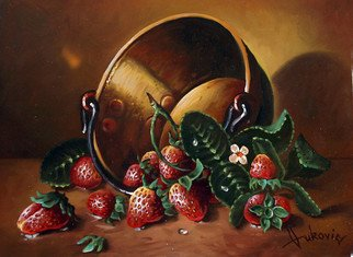 Dusan Vukovic; Strawberries, 2012, Original Painting Oil, 30 x 40 cm.