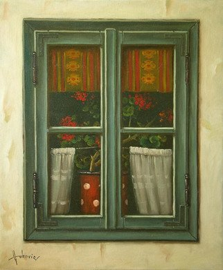 Dusan Vukovic; Window, 2015, Original Painting Oil, 50 x 60 cm. Artwork description: 241  This is poetic realism. . .  ...