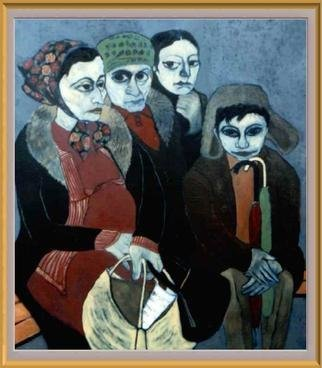 Bozena Dusseau Labedz; IMMIGRANTS I, 2000, Original Painting Oil, 100 x 120 cm.
