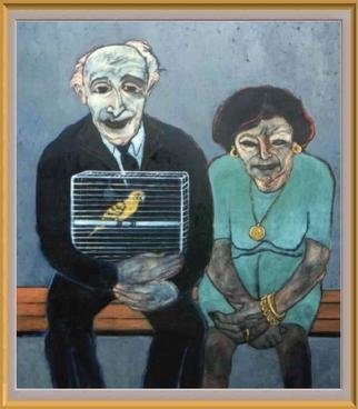 Bozena Dusseau Labedz; IMMIGRANT II, 2000, Original Painting Oil, 100 x 120 cm. Artwork description: 241 PANEL 2 request price...
