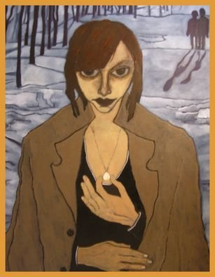 Bozena Dusseau Labedz; WOMAN WITH PEARL, 2009, Original Painting Oil, 100 x 120 cm. Artwork description: 241     PAINTING NR: 0105XX2  TITLE: WOMAN WITH PEARL- 2009  - DIM: 100 X 120 CM. - OIL ON CANVAS ...