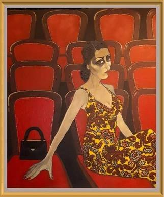 Bozena Dusseau Labedz; Seat Already Taken, 2017, Original Painting Oil, 100 x 120 cm. Artwork description: 241 010584...