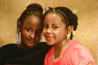 Dwayne Mitchell; Best Friends, 2011, Original Painting Oil, 30 x 24 inches. Artwork description: 241  Children, kids, friends, girls, portraits, oil painting. .  ...