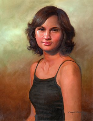 Dwayne Mitchell; Tamera, 2005, Original Painting Oil, 18 x 24 inches. Artwork description: 241  Oil portrait of Tamera ...