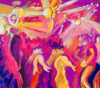 Richard Wynne; Dancin, 2013, Original Pastel, 20 x 16 inches. Artwork description: 241         abstract_ dance_ contemporary_ rave_ magenta_ movement_ dance sport_ dance clubs_ night clubs_ exciting  ...