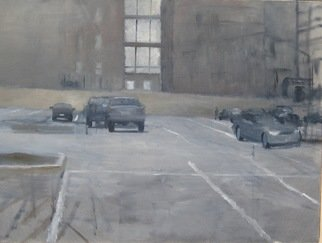 Eberhard Froehlich; Parking Lot 25th Street, 2010, Original Painting Oil, 24 x 18 inches.