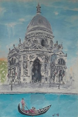 Eddy Lubis; St Maria Della Salute 2, 2016, Original Painting Oil, 80 x 150 cm. Artwork description: 241     Abstract, expressionism, seascape, religious    ...