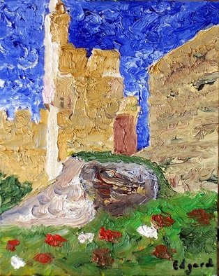 Edgard Loepert; DAVID TOWER JERUSALEM, 2007, Original Painting Oil, 25 x 20 cm. Artwork description: 241  The beauty of David