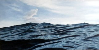 Edna Schonblum;  Home, 2017, Original Painting Oil, 80 x 40 cm. Artwork description: 241 a view from a high sea...