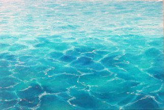 Edna Schonblum; Transparencie 38, 2016, Original Painting Oil, 40 x 30 cm. Artwork description: 241              sea transparencie     waves   transparencie sand sea studie        transparencie  water  sea waves    ...