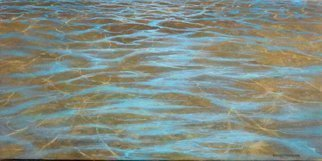 Edna Schonblum; Transparencie 39, 2017, Original Painting Oil, 50 x 25 cm. Artwork description: 241 sea wave oil- painting transparencie realism...