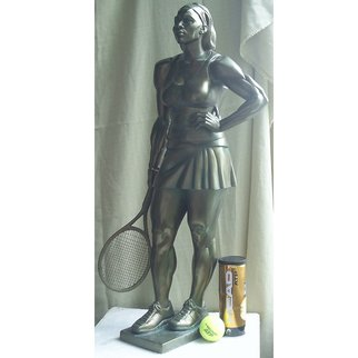 Zlatan Stoilov; Player1, 2009, Original Sculpture Bronze,   cm. Artwork description: 241   Player                         ...