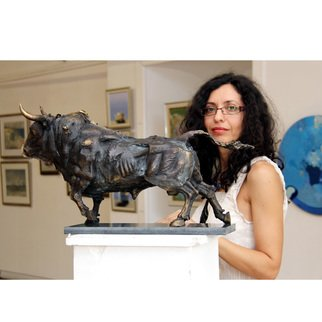 Zlatan Stoilov; Bull2, 2014, Original Sculpture Bronze, 30 x 60 cm. Artwork description: 241  bull2 animals body cows figurative...