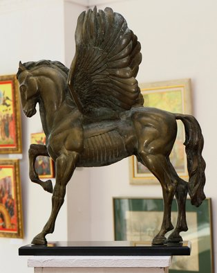 Zlatan Stoilov; Pegas, 2017, Original Sculpture Bronze, 20 x 24 inches. Artwork description: 241 horses animals cows fantasy figurajive history mythology...