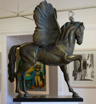 Zlatan Stoilov; Pegas1, 2017, Original Sculpture Bronze, 20 x 24 inches. Artwork description: 241 horses animals figurative mythology nature...