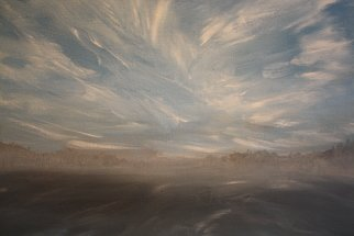 Edward Reid; Misty Morning Sky Rotten Lake , 2011, Original Painting Acrylic, 35 x 28 cm. Artwork description: 241  Nature early morning mist summer sky gentle spirit breeze Earth Light shadow water wisked cloud silence Peterborough County Rotten Lake blue Kawarthas      ...
