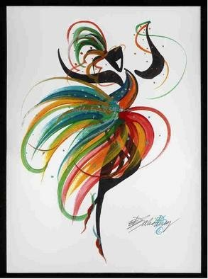 Eric Salisbury; Sassy Dancer Gesture, 2005, Original Painting Other, 8 x 10 inches. Artwork description: 241 Flowetry of color and movement in a series of quick strokes. ...