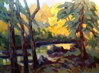 Edward Abela; Go Placidly, 2014, Original Painting Acrylic, 24 x 18 inches. Artwork description: 241  Peace, placidly, Ontario, Canadian Art, Acrylic painting, Algonquin, panorama      ...