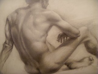 Manana N Saks ; Torso, 2007, Original Drawing Pencil, 28 x 24 inches.