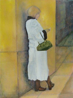 Elizabeth Bogard; Checking Calls, 2009, Original Painting Acrylic, 9 x 12 inches. Artwork description: 241 Painted from original photograph  ...
