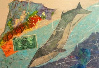 Elizabeth Bogard, Finback Whale 11 am, 2015, Original Mixed Media,    inches