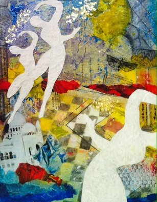 Elizabeth Bogard, Three Graces, 2016, Original Mixed Media,    inches