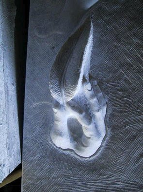 Andrew Wielawski, 'DTNMS Detail', 2001, original Sculpture Stone, 12 x 25  x 7 inches. Artwork description: 1911 Detail of the whole DTNMS sculpture, a hand with a feather tickling the bottom of a foot....