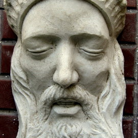 Artist: Andrew Wielawski, title: King of Pain, 2001, Original Sculpture Stone
