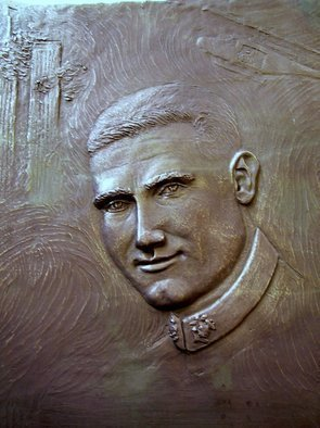 Andrew Wielawski; Marine Captain Eric Jones, 2010, Original Sculpture Bronze, 51 x 71 cm. Artwork description: 241  This Marine was inspired to join because he saw the World Trade Center fall, and wanted to do something about it. The plaque went to the Fox Lane High School, from which he graduated in 1999. Eric died in October of 2009, in the Helmand province of ...