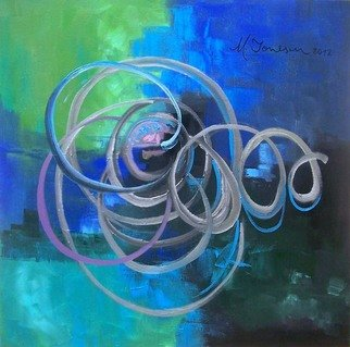 Ionescu Ionescu; fusion in blue, 2012, Original Painting Acrylic, 60 x 60 cm. Artwork description: 241 Acrylic on stretched canvas, it is framed, one of a kind art. The colors could be slightly different from the screen to the original one. Every painting is signed and comes with a Certificate of Authenticity and it will be carefully packaged to ensure it reaches you ...