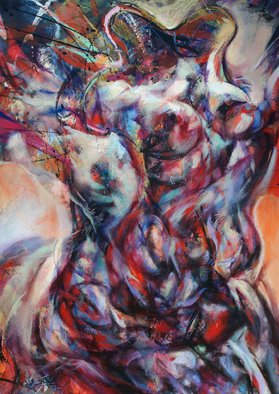 Ruben Valdes Montano; Centauro, 2011, Original Painting Acrylic, 50.2 x 35.5 inches. Artwork description: 241   Joy of experiencing feelings as sensations, touch, breath, taste life, erotics emotions and projection of your fantasy and imagination.  ...