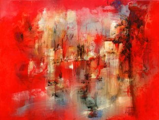 Ruben Valdes Montano; City, 2011, Original Painting Acrylic, 48.5 x 36 inches. Artwork description: 241     Joy of experiencing feelings as sensations, touch, breath, taste life, erotics emotions and projection of your fantasy and imagination.    ...