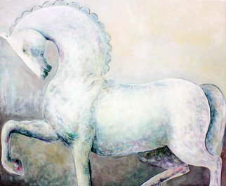 Elisaveta Sivas; GREY HORSE, 2015, Original Painting Oil, 47.2 x 39.4 inches. Artwork description: 241  GREY HORSEOriginal oil on canvas painting, highly elaborated piece, very attentively paintedMystical grey horse is coming from a fairy tale.  This horse is walking proudly towards her dream.  This horse is kind, wise and free, she is following her way.  This grey horse is very special and ...
