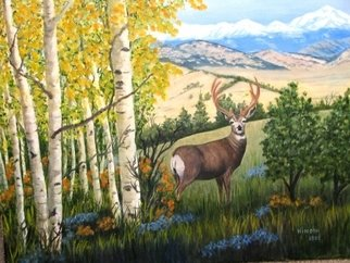 Ellen E Hinson; Deer Amid the Aspens, 2006, Original Painting Oil, 20 x 16 inches. Artwork description: 241 This is an original oil painting of a beautiful ten- point buck painted in a Colorado setting amid quaking aspen trees. ...
