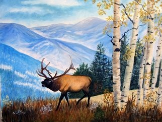 Ellen E Hinson; Elk in the Rockies, 2006, Original Painting Oil, 20 x 16 inches. Artwork description: 241  This is an original oil painting of the elk found in Colorado. ...