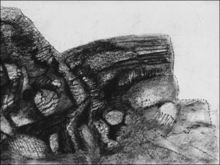 Niels Ellmoos; Bluff, 2007, Original Printmaking Other, 40 x 30 cm. Artwork description: 241  A landscape treatment from a quick sketch in charcoal. ...