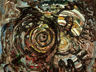 Niels Ellmoos; Eye Of The Storm, 2006, Original Painting Oil, 36 x 32 cm. Artwork description: 241  Lyrical absraction ...