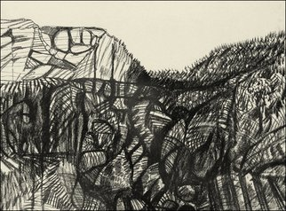 Niels Ellmoos; Ridgeline, 2007, Original Printmaking Other, 40 x 30 cm. Artwork description: 241  A lyrical treatment of landscape ...