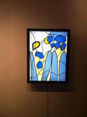 Eric Mead; Spritely, 2013, Original Glass Stained, 2 x 2 feet. Artwork description: 241   Illuminated Stained Glass panel designed from original print  ...
