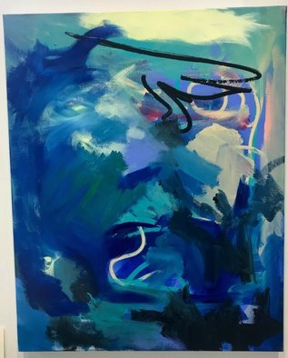 Elizabeth Griffith; bayou 2, 2017, Original Painting Acrylic, 1 x 36 inches.